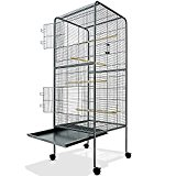 Large Bird Cage Metal Aviary XXL on Wheels 4ft10