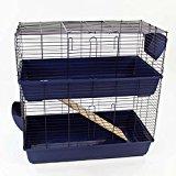 Large Indoor Rabbit Hutch (Blue)