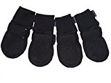 Vibrant Fellow Paw Protector Dog Boots Breathable Protective and Skid-proof Color Black Set of 4 Size M L XL (S)