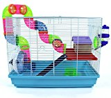 Small Pet Cage for Syrian Dwarf Hamster, Gerbil, Mouse by Easipet