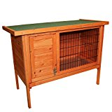 Oypla Single Rabbit Hutch 820x390x700mm