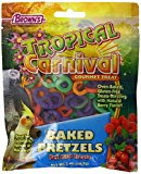 F.M.Brown'S 44910 Tropical Carnival Baked Pretzels Treat For Pet Birds, 2-Ounce