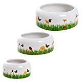 Karlie Ceramic Spring Meadow, capacity, 150ml, food bowl for small animals