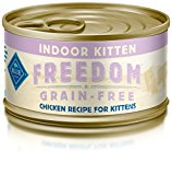 Blue Buffalo Freedom Indoor Kitten Chicken Wet Cat Food, 3 oz Can, Pack of 24