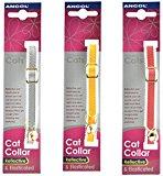 3 X Ancol Reflective Elasticated Cat Collars Bulk Buy Save Money