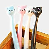 BuW Japanese Style Cartoon Cat Head Gel Pen(Random Color) , cute creative Stationery and office supplies by BuW