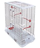 Tall Vision Bird Cage Large - Perfect for Budgies, Canaries, Lovebirds and Finches - White