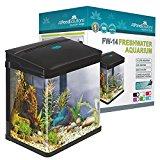 All Pond Solutions Nano Fish Tank Aquarium LED Lights, Small, 14 Litre, Black