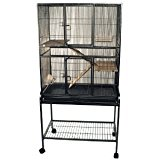 BLACK BIRD FLIGHT CAGE CONVERTS INTO A LARGE RODENT CAGE