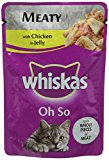 Whiskas Cat Food OhSo Pouch in Jelly with Chicken, Pack of 28