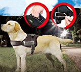 Namsan Service Dog Vest Guide Dog Harness Black Excursion Harness Fits Girth Size: L - 27.6