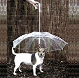 Pet Dog Umbrella with Leash Holder Keeps your Pet Dry in Rainy days
