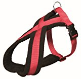 Trixie Premium Harness with Fleece Padding, S to M,  40-60 cm x 20 mm, Red