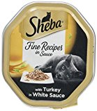 Sheba Cat Food Tray Fine Recipes in Sauce with Turkey in White Sauce^  85 g - Pack of 18