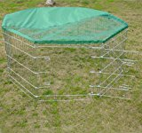 PAWHUT 5FT RABBIT GUINEA PIG ANIMAL PET DOG PLAYPEN PLAY PEN RUN ENCLOSURE MEDIUM CAGE HUTCH WITH SUN PROTECTION NET 63(W)x76(H)cm