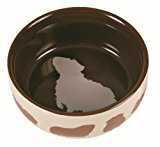 Ceramic Pet Food Bowl with Guinea Pig Motif 250ml 11cm