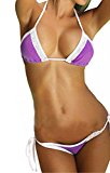 Passion-EYE Lace Hem Sexy Laced Both Top and Bottom Girl/Lady Bikini Push-up Swimsuit Bathing swimwear One Size 7 Colors
