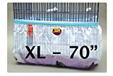 Bird Cage Tidy Seed Catcher Guard Skirt Style Pile Fabric - White - Extra Large
