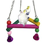 Colorful Climbing Swing for Bird Parrot Macaw African Greys Budgies Parakeet Cockatiels Conure Lovebird Cage Perch Toy
