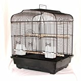 BLACK BIRD CAGE FOR BUDGIES CANARIES PARAKEETS BIRDS
