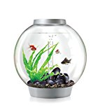 biOrb Classic Aquarium, 40 x 42 cm, 30 Litre, Silver, LED Light
