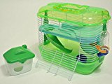 Mini Mouse Cage For Mice Dwarf Hamster Gerbil Green 23 x 17 x 15.5 cm