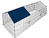 Rabbit Enclosure Small Animal Run Pet Cage Guinea Runs Enclosure Cage Playpen Hutch With Cover