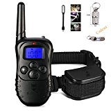 Gleading 300 Meters Remote Dog Training Collar Anti Bark Collar Waterproof Rechargeable Pet Trainer with Warning Tones, Vibration