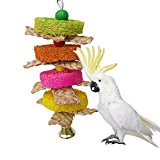 Natural Loofah Straw Braid Chew Toy for Parrot Macaw African Greys Budgies Cockatoo Parakeet Cockatiels Conure Love bird Cage Chew Toy