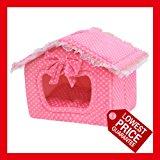 Gorgeous Pink Princess /Blue Prince,Pet House,dog beds,cat beds,pet beds, Small,Medium and Large Size (Medium, Pink)