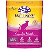 Wellness Complete Health Natural Dry Cat Food, Indoor Health Salmon And Whitefish Meal Recipe, 2.5-Pound Bag