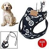 Water & Wood Mesh Nylon Cat Puppy Doggle Doggie Pet Dog Vest Harness w/Leash Size 1