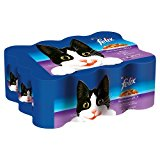 Purina Felix Mixed Selection Chunks in Jelly Adult Wet Cat Food 4800 g (Pack of 12)