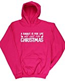 HippoWarehouse A Rabbit Is For Life Not Just For Christmas kids unisex Hoodie hooded top