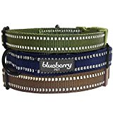 Blueberry Pet 3M Reflective Adjustable Classic Solid Color Dog Collar in Olive Green, Neck 30cm-40cm, Small, Collars for Dogs, Matching Lead Available Separately