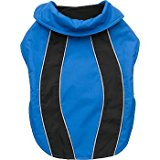 Petco Blue/Black Reflective Nylon Dog Jacket, Small/Medium
