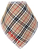 Spoilt Rotten Beige Check Dog Bandana (Small/Medium Dog Fits Size 12