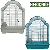 Heritage Cages 9100 Westminster Large Bird Cage Budgie Finch Canary 42 x 30 x 56cm Budgies Pet Home