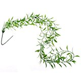 FACILLA® Reptiles Lizard Chameleon Terrarium Plastic Willow Vine Habitat Decor Green
