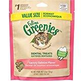 Feline Greenies Dental cat Treat Salmon Flavor