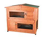 Trixie Natura 2 Storeys Small Animal Hutch, 133 x 120 x 83 cm, Brown