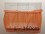 Bird Cage Tidy Seed Catcher Skirt Guard Pile Fabric Double Strap - Orange - Large - 160cm