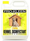 5L of Pro-Kleen High Concentration 2-in-1 Kennel Cleaner Disinfectant & Deodoriser | Lemon Fragrance | Used by Vets, Kennels and Catteries | Deeply Cleans & Disinfects | Helps to Control Many Diseases