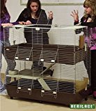 HERITAGE CAGES 120CM X/LARGE DOUBLE DECK DECKER RABBIT CAGE 1.2M INDOOR 120CM LARGE BUNNY HUTCH GUINEA PIG CAGES