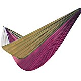 Parachute Hammock Nylon Sleeping Bed Swing Outdoor Camping Travel Purple&Brown