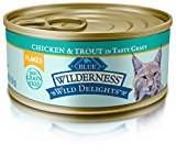Blue Buffalo Wild Delights Flaked Adult Chicken & Trout Wet Cat Food, 5.5 oz Can, Pack of 24