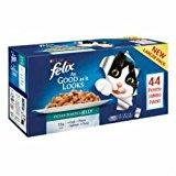 Felix Agail Ocean Feasts Mixed Variety Pack Cat Food 44 x 100g