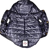 SUPEREX® Stormguard & Fleece Lining Coat Coat Jacket Quilted wadded Padded Puffer Pet Dog Puppy Clothes hooded For Small & Medium dog coats for winter autumn Warm fashion Vest (Grey, M)(Plz pay attention to the size chart)