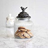 Pretty Love Birds Airtight Food Storage Jar - A perfect House Warming Gift - H28 x D16.5 x H 10cm