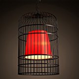 XXTT-New Chinese retro Chinese style bird cage wrought iron dining room lighting ideas hotpot neo-classical teahouses tea chandelier 300/400/500*460/630/700mm , M